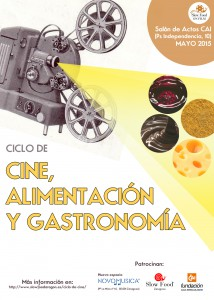 Cartel cine, alimentación y gastronomía (PRINCIPAL)